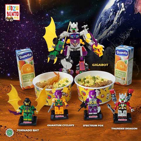 Kidzu Bento Battle of Unibot: Gigabot