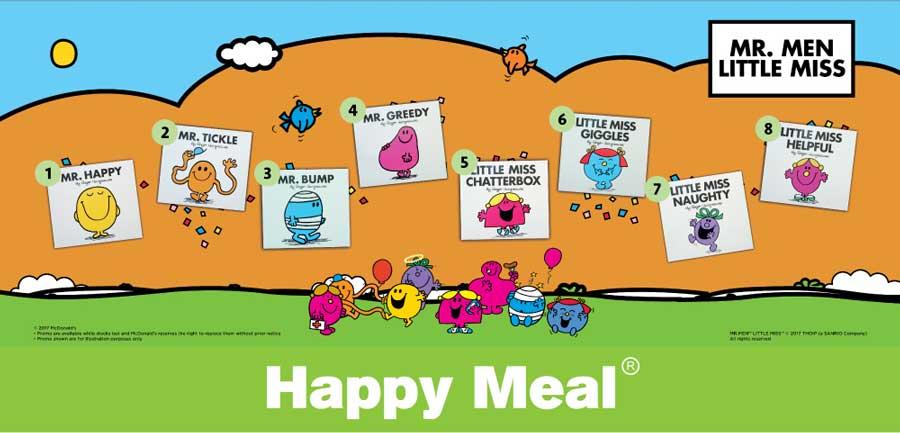 Happy Meal Mr Men dan Little Miss