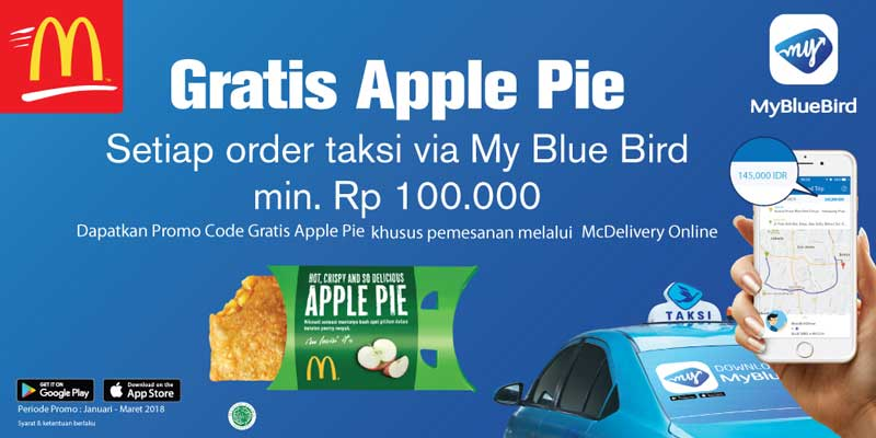 Promo Mc Donald's dan BlueBird