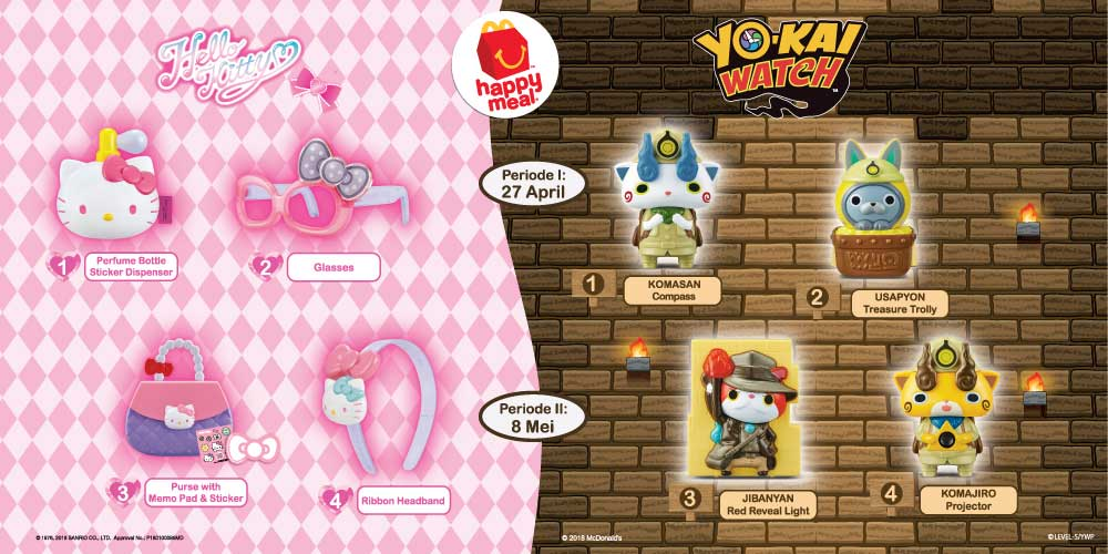 Happy Meal Yokai dan Hello Kitty