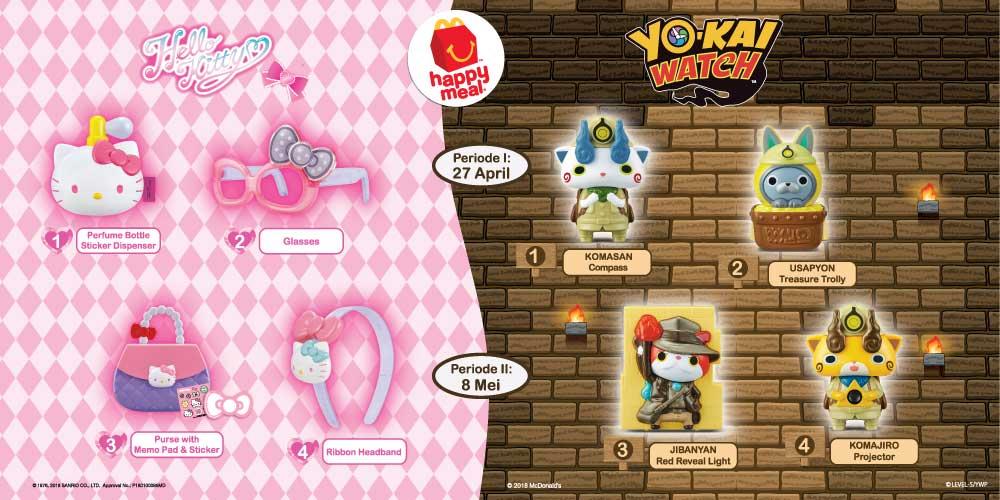 Happy Meal Yokai dan Hello Kitty